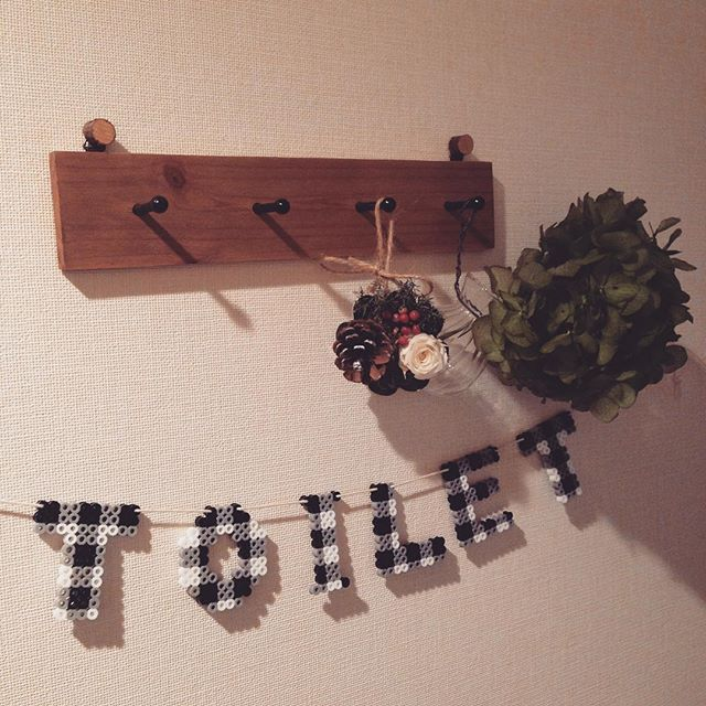 Toilet sign perler beads by a.y.a.0721