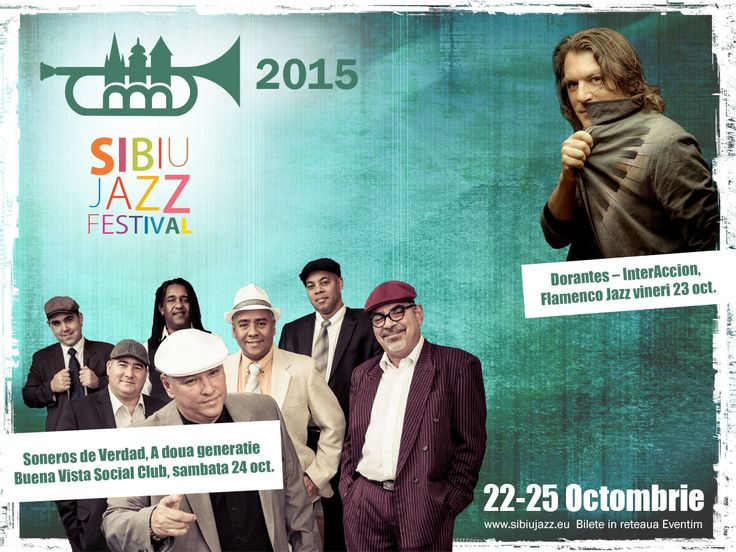 Sibiu Jazz Festival - 45th Edition The oldest jazz festival in Romania. Tickets available in the Eventim network (the following shops: Germanos, Orange, Vodafone, Domo, bookstores: Cărturești Humanitas and online on www.eventim.ro).