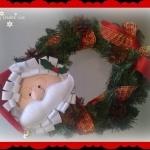 Corona Natalizia con Babbo Natale …