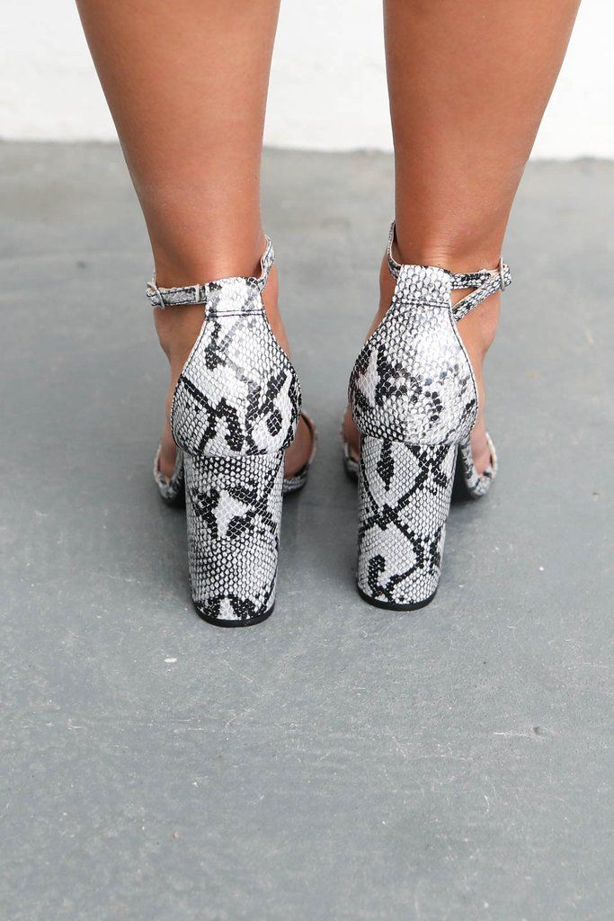 81c5f64adf6 What Comes Next Snakeskin Block Heels
