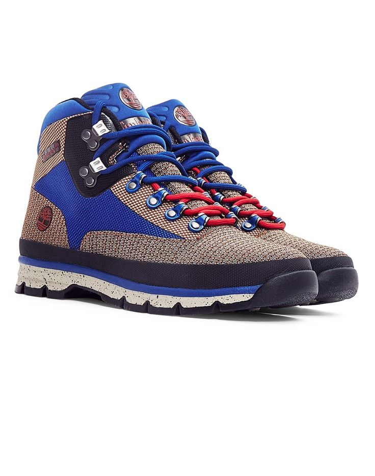 New In | Timberland Euro Hiker Jacquard in Tan/Blue | Shop all men's clothing at The Idle Man