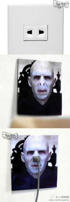 Voldemort nose wall plug