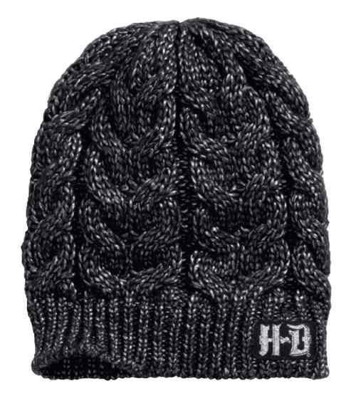 Free shipping over $99 - Harley-Davidson Women's Metallic Yarn Knit Beanie Hat, Black 97791-17VW - Womens/Caps & Headwear/Cold Weather - Essentials/Headwear/Womens Headwear/Cold Weather