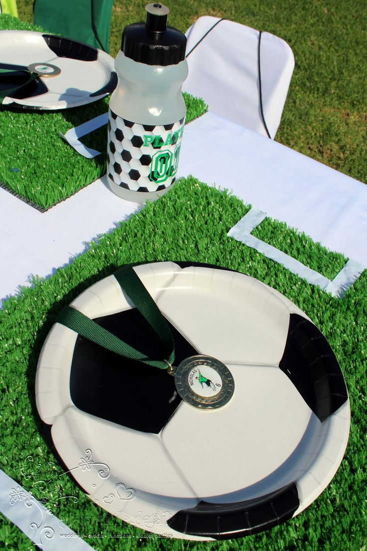 Soccer Kiddies Table Setup