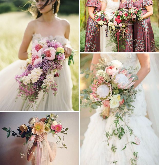 2015 Wedding Trends | Cascading Bridal Bouquets | www.onefabday.com