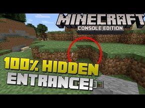 ▶ Minecraft: How to Make a 100% Hidden Secret Base Entrance! [Xbox & Playstation] - YouTube