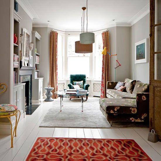 How to do modern flora fabric. Love! Living space   South London home   House tour   PHOTO GALLERY   Livingetc   Housetohome.co.uk