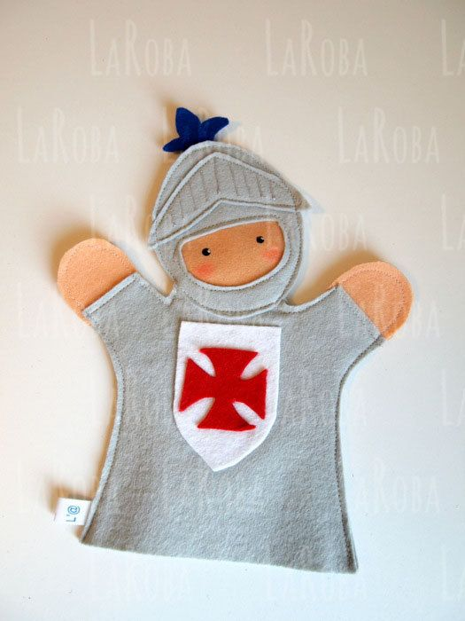 Hand puppet: knight by LaRoba on Etsy