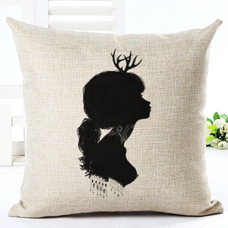 2015 новые европейские подушки дома диван автомобиль подушками нахальный девушка печатных хлопка принципиально Cojin подушки