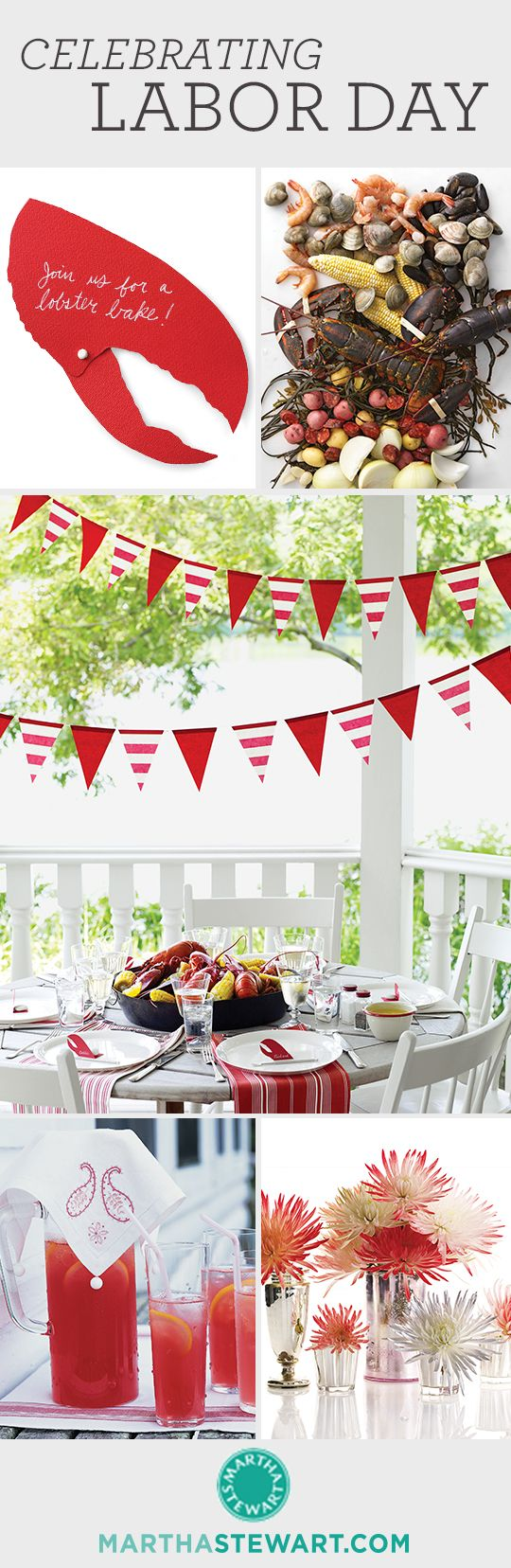 Celebrate Labor Day with our invitations, decor ideas, and recipes!