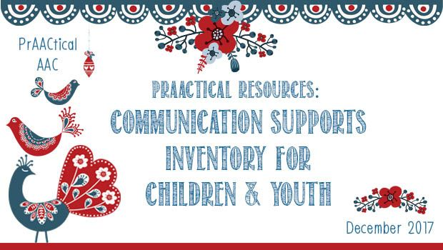 As AAC practitioners well know, children who use some form of augmentative communication need a wide array of supports in order to be successful. In this post, we share a useful tool to systematica…
