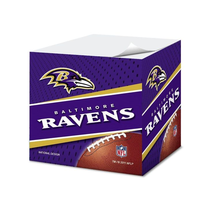 Baltimore Ravens Cubed Sticky Notes