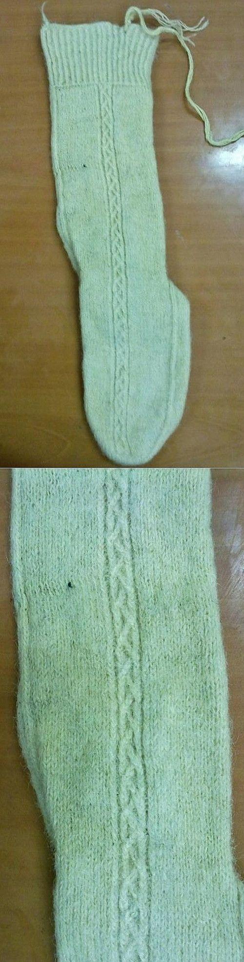 Traditional hand-knitted woollen socks, for women. From the Malatya province. Late 20th century. Source: Halk Eğitim Merkezi, Malatya.