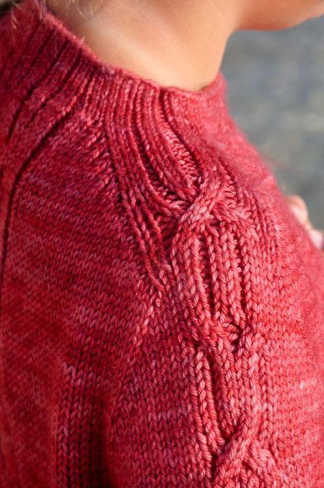 Рукав погон вязание