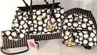 ♢☼ Nwt BETSEY JOHNSON Daisy stripe TOTE &mini back pack+Crossbody  wallet Silly Prices http://j.mp/2okTBzS