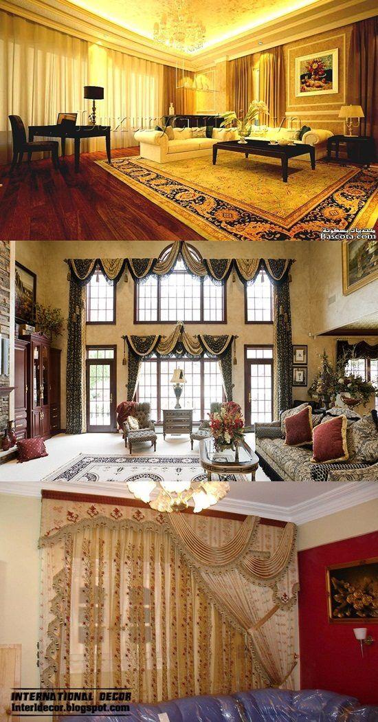 Luxurious Modern Living Room Curtain Design Http Interiordesign4 Com Luxurious