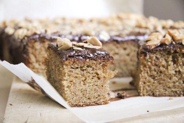 Krebsen und Aluette: Erdnussbutterkuchen mit Schokoglasur