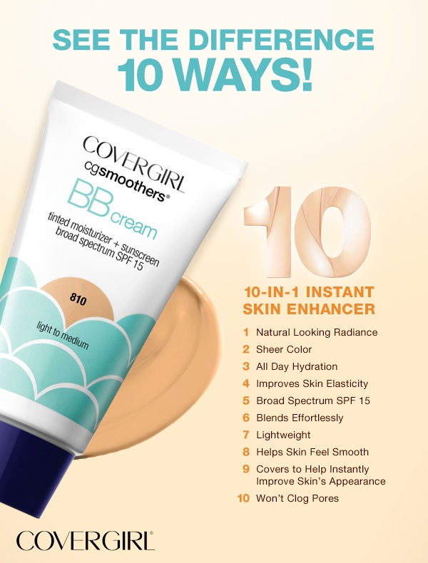 10 reasons why COVERGIRL BB Cream is a time saver!