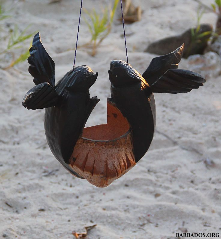 Hand-carved bird feeders make a great gift or souvenir of your #Barbados vacation :)
