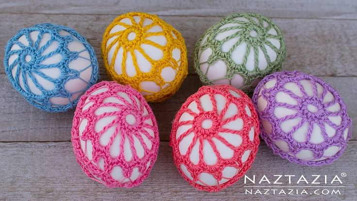 DIY Tutorial - How to Crochet an Egg - Lace Covered Eggs - Collab with L...