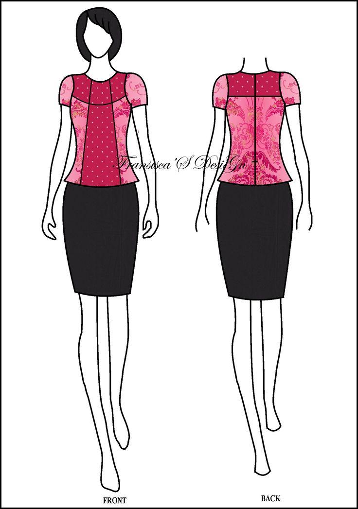 Blouse kombinasi dada.  #FashionDesigner #Butik #OnlineShop #DesainBajuBusanaWanita #Sketsa #Sketch #Modern #Casual #Trend #Blouse #Dress #Skirt #Hem #Batik #SoloBaru #Sukoharjo #Surakarta #JawaTengah #HP:085226138628 #PinBB:5176EF34