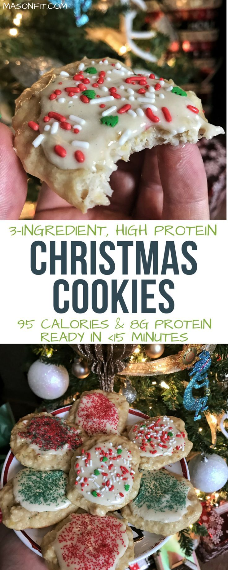 These High Protein Christmas Cookies Pack 8 Grams Of Protein And