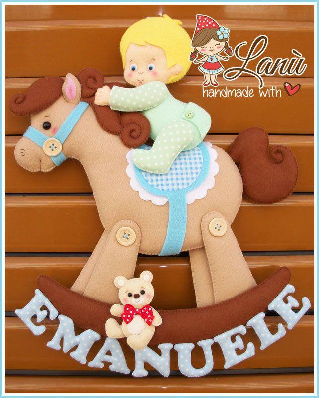 Annuncio Fiocco Nascita Cavallo a dondolo
