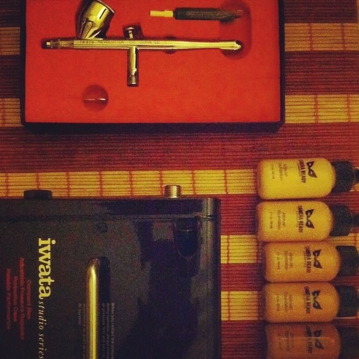 Camera Ready Cosmetics and Iwata Airbrush System in my makeup kit
