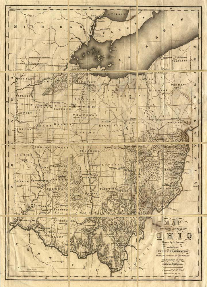 Folded Map: Ohio | Natural Curiosities