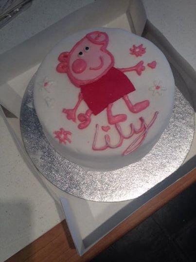 Peppa Pig-themed cake