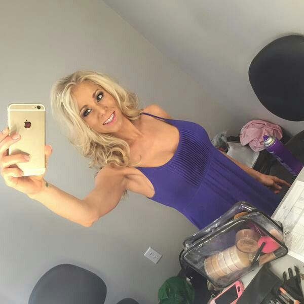 image Katie morgan has long blonde hair that goes all t