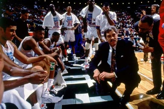 The great Phil Jackson coaching the Eastern Conference all star team with great players such as Brad Daugherty, Reggie Lewis(RIP), Dennis Rodman, Michael Jordan, Scottie Pippen, Patrick Ewing, and Michael Adams in Orlando.