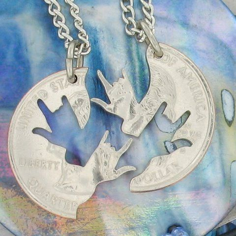 """Sign Language """"I love you"""" BFF necklaces!"""