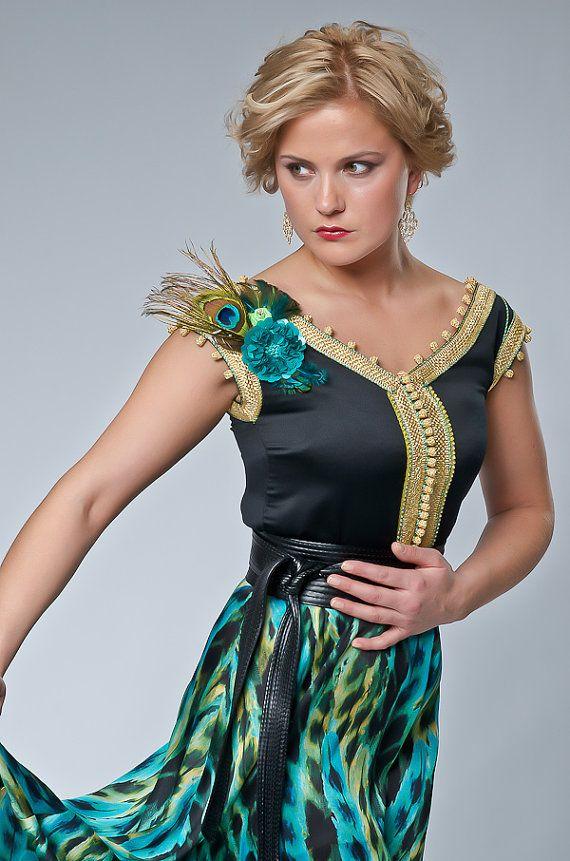 Exotique '' paon Attitude '' formelle robe par SallyKaftanDesign