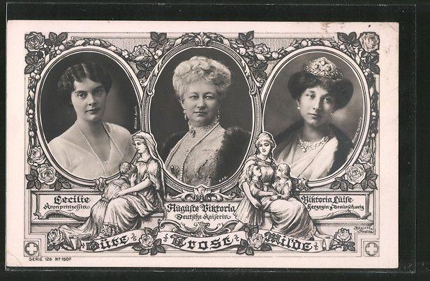Kaiserin Augusta Victoria Wedding | Alte Ansichtskarte: AK Kaiserin Auguste Victoria Königin von Preußen ...