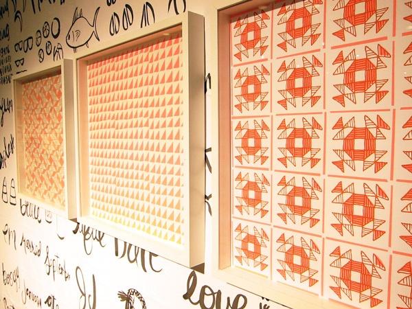 Linda & Harriett oversized silkscreen calendar turned art prints: Quilts Patterns, Patterns Bi