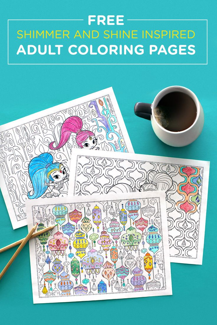 Ni nick jr games and coloring on online - Adult Coloring Pages A Stress Reliever And A Great Way To Connect With Your Child