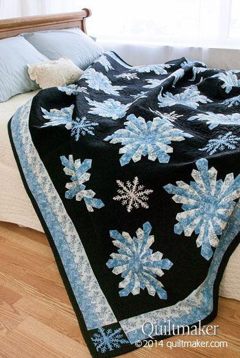 Midnight Snowfall A quilt featured in Quilt Makers Magazine that I quilted! Pattern Created by Brenda S.