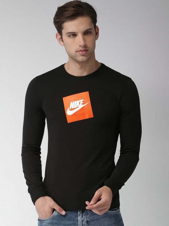 e67741c434bc97 Nike Men Black Printed Round Neck FUTURA BOX HBR T-shirt -