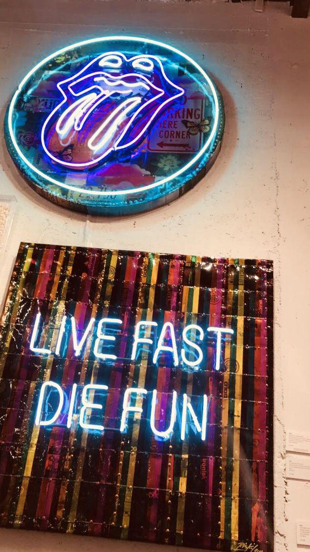 "Poster Print /""Neon shop open sign/"""