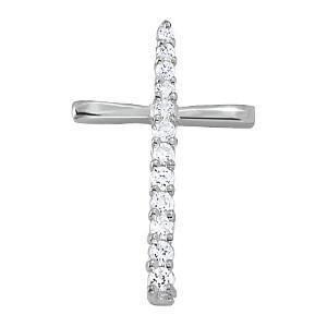 1 ct tw Diamond Cross Pendant with F Color VS Clarity Diamonds