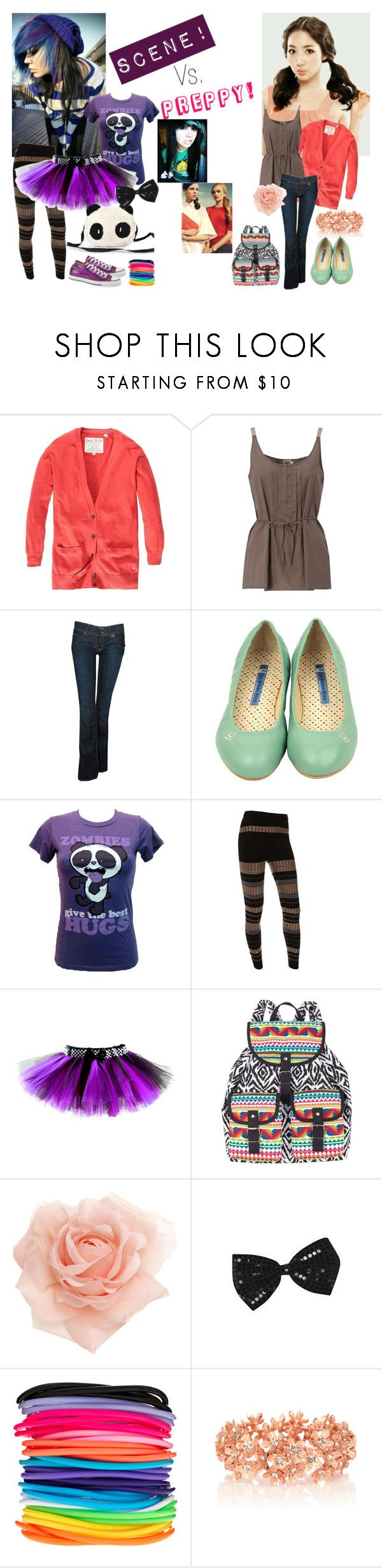 """""""Scene Vs. Preppy"""" by to-live-and-let-go ❤ liked on Polyvore featuring Jack Wills, Twist & Tango, Hudson Jeans, Goodie Two Sleeves, Edun, Converse, Panda, Monsoon, ASOS and Oasis"""