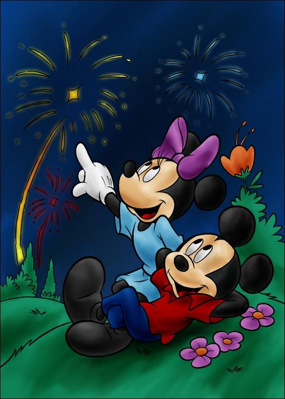 Mickey and Minnie by vanillacoke-deviantart.com