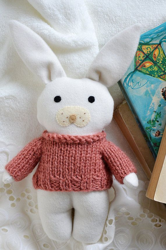 Daisy stuffed toy animal soft toy bunny rabbit gift by Fernlike nursery room baby gifts for girls babyshower