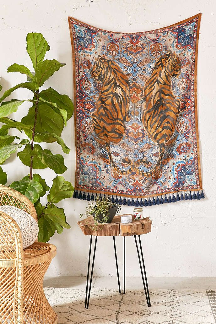 tiger twins tapestry home wall
