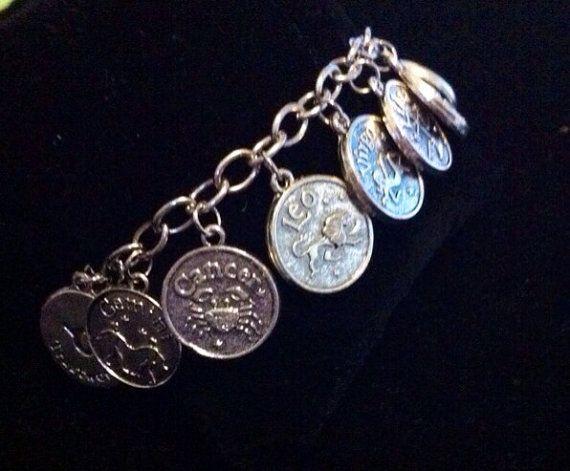 The Twelve Zodiac Charm Braclet on Etsy, $4.50 CAD