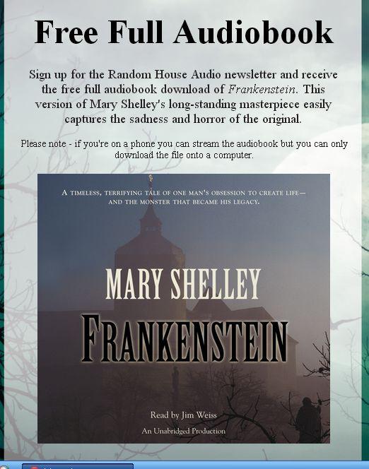 Frankenstein скачать книгу на английском
