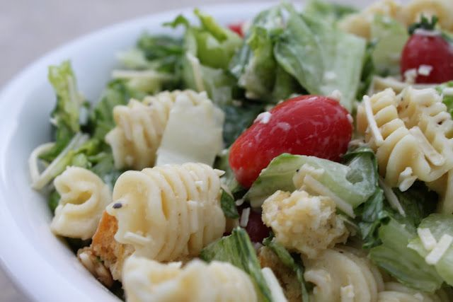 Caesar pasta salad for a crowd (or large family!)