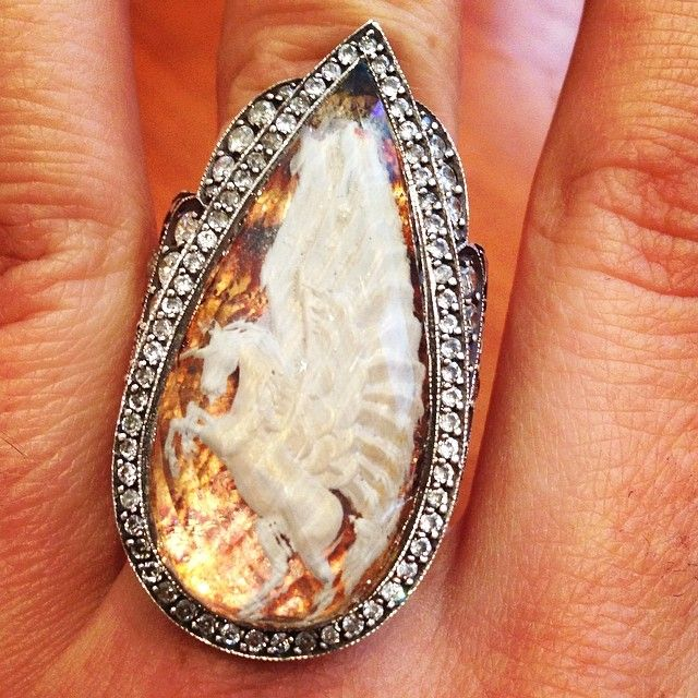 A bit of Sunday magic. #pegasus #mythology #folklore #whimsy #diamond #gem #sunday