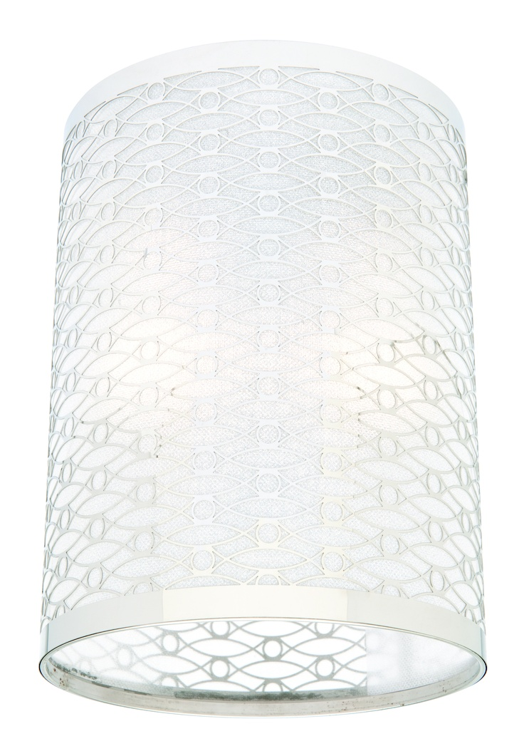 Erica Cylindrical | Available in a clear or pink glitter shade.